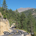 Take me with you. Lol