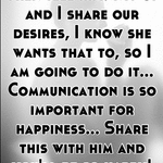Then tell him! My gf and I share our desires, I know she wants that to, so I am going to do it... Communication is so important for happiness... Share this with him and you'll be so happy!