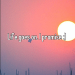 Life goes on. I promise :)