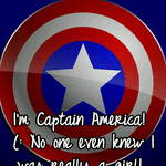 I'm Captain America! (: No one even knew I was really a girl!