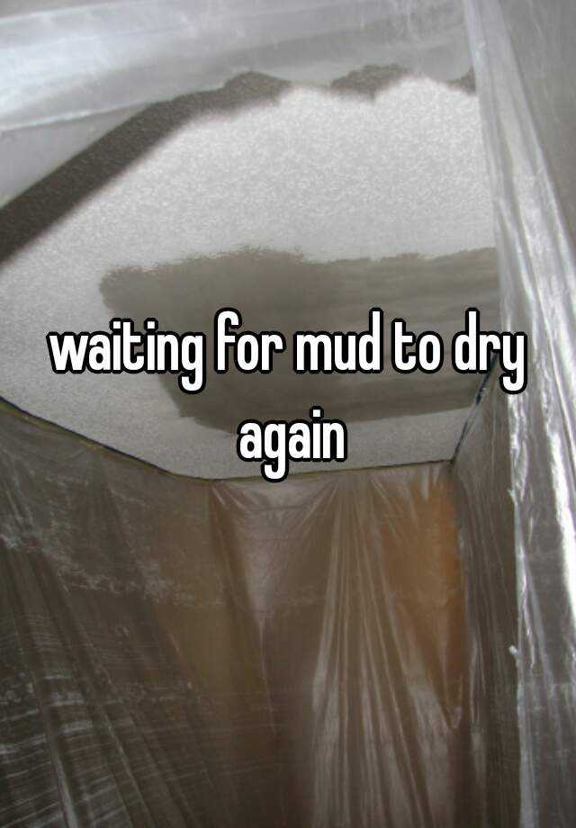waiting for mud to dry again
