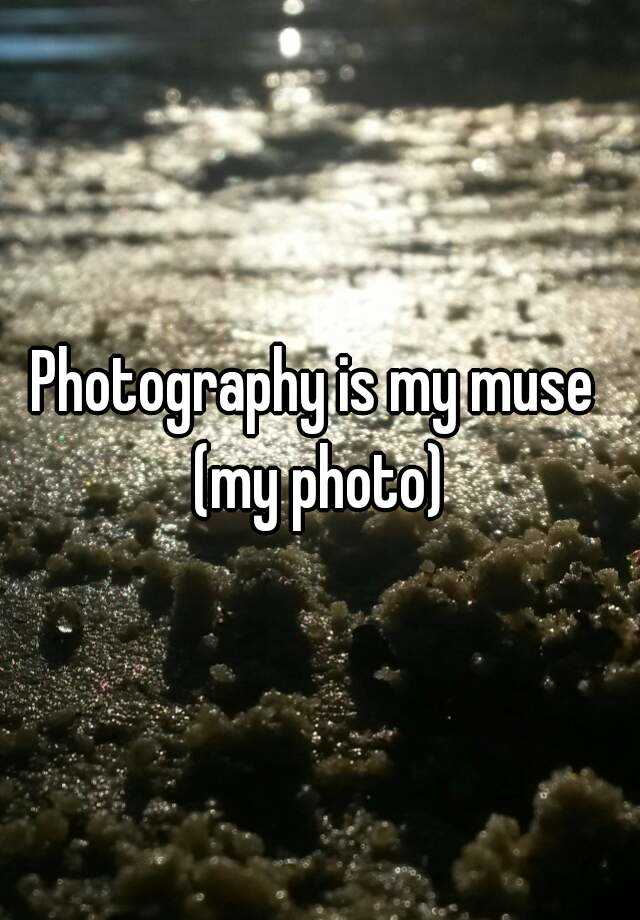 Photography is my muse  (my photo)