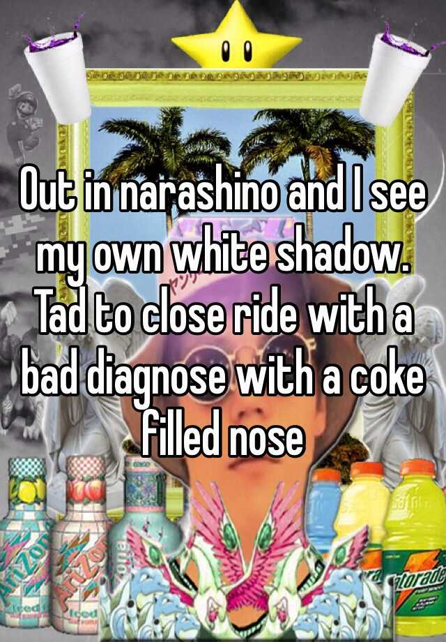 Out in narashino and I see my own white shadow. Tad to close ride with a bad diagnose with a coke filled nose