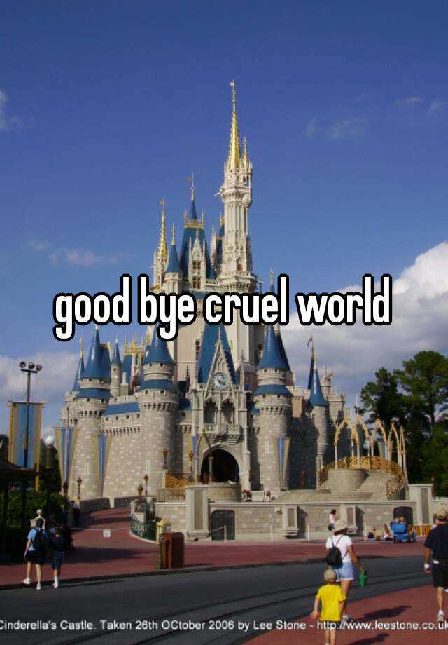 good bye cruel world