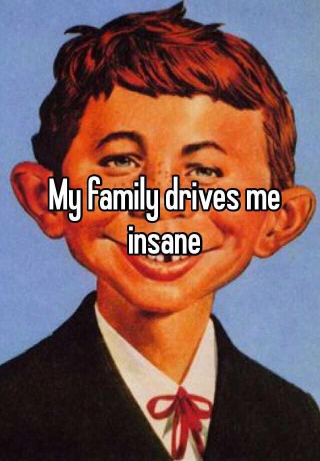My family drives me insane