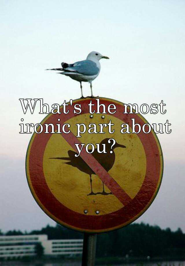 What's the most ironic part about you?