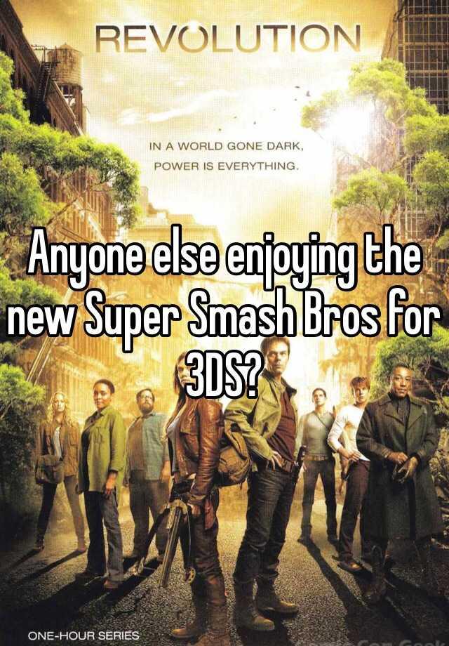 Anyone else enjoying the new Super Smash Bros for 3DS?