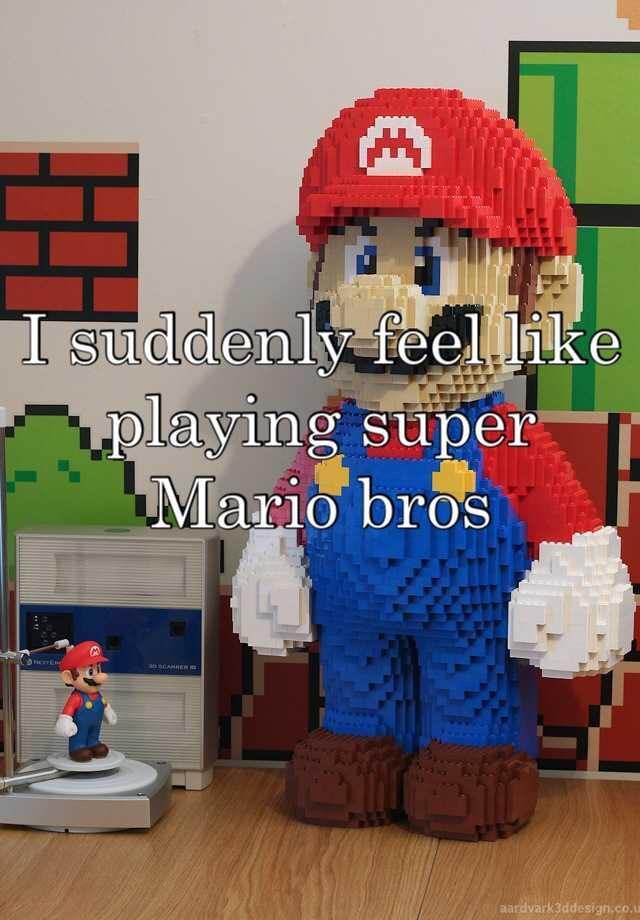 I suddenly feel like playing super Mario bros